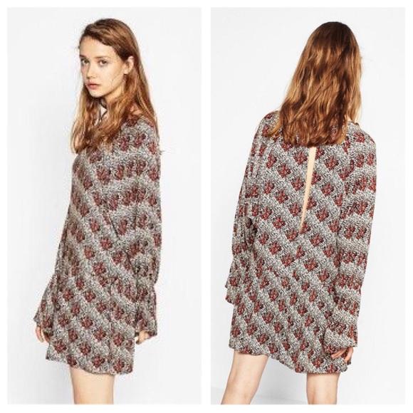 787b25b93d95 NWT Zara Floral Long Sleeve Jumpsuit
